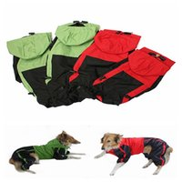 Wholesale New Fashion Pet Waterproof Raincoat Puppy Hooded Poncho Clothing Rain Appliance Products Color S M L XL
