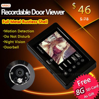 Wholesale Motion snapshot door viewer door camera peephole door bell video intercom support take photo video record with night vision A3