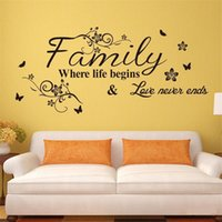 Wholesale 2015 DIY Wall Stickers Family Fashion Creativity Stickers Home Decor Removable Art Vinyl Wall Sticker Decals Mural Home decoration75 CM