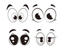 balloon stickers - page magic balloon eyes DIY animal eyes stickers paper balloon decals