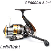 Cheap 3Ball Bearings Left Right Fishing Reels Interchangeable Collapsible Handle Fishing Spinning Reel GF5000A 5.2:1