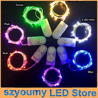 Wholesale LED Copper Wire String Lights CR2032 Button Cell Battery String Light M LED Fairy Light for Christmas Wedding Decor