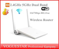 Wholesale Original Xiaomi Router Mi Smart Wireless Router Dual band GHz GHz Antenna Mbps Wi Fi ac for PC SmartPhones Tablet NWP003
