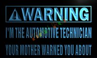 automotive neon signs - LN932 TM Warning I m the automotive Technician Neon Sign Advertising led panel jpg