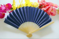 Wholesale colorful paper folding fan holiday gift with colors for choice