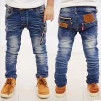 jeans lot - Thin Jeans no velet Boys Long Jeans Cotton Fabric Blue Boys Fleece Pants Different Sizes Long Length psc Top Fashion bid29