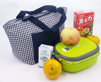 aluminum film insulation - Oxford ice bag inner aluminum film with pearl cotton insulation lunch bag tote picnic bag red and navy blue
