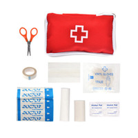 Wholesale 9 Emergency Survival FIRST AID KIT Treatment Pack OUTDOOR SPORT MEDICAL BAG Health Care