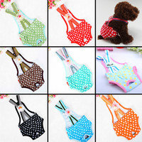 Wholesale 2015 Newest Pet Physiological Pants Beautiful Polka Dot Lace Flower Bowknot Dog Health Jumpsuits Rompers Clothing For Dogs
