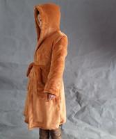 Wholesale Fashion Star Wars Darth Vader Terry Jedi Bathrobe for Men Robe Costume Brown Black Robe Cosplay Costume