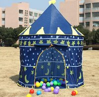 Wholesale 2015 Baby Toy Play Game House Kids Princess Prince Castle Indoor Outdoor Toys Tents Christmas Gifts