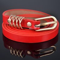 Wholesale 2015 thin leather belt fashion Candy colored women belt casual jeans belt buckle belts YV4