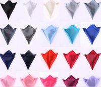 Wholesale Pocket Square Ties Accessories Different Colors Men Pocket Handkerchief Hanky Tower Snot rag Pocket square Pocket Towel MG03
