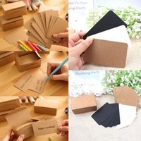 thank you cards - 100Pcs Vintage Kraft Paper Card Message Memo Wedding Party Gift Thank You Cards