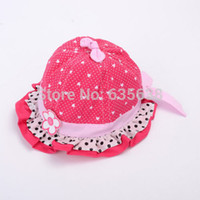 Wholesale Hot Newborn Baby Kids Child Girl Toddler Cotton Bucket Topee floral Sun Cap Hat Sunhat