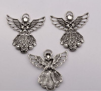 Wholesale Hot sell Fashion Antique Silver Lovely Angel Charms pendants DIY Jewelry x mm