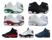 Wholesale Famous Trainers XIII Retro s Hologram Men s Sports Basketball Shoes Barons white black grey teal