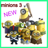 Wholesale DHL Despicable Me Minions Minion rd edible cake strips cake topper dolls birthday party decorations kids gifts