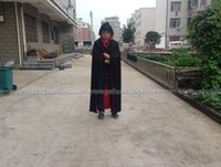 Wholesale Fashion Cosplay Vampire Cape Knitted fabric Adult Children Death Costumes Black and Red Both sides wear
