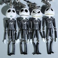 Wholesale Jack Skellington The Nightmare Before Christmas Action Figures toys Skull Devil Demons Model Keychain Star Wars Halloween gift
