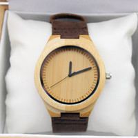 Wholesale 2015 unique personalized wooden watches wooden watches leather watch father s day gifts wedding gifts Christmas gifts