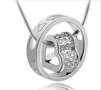 necklace - 2014 fashion heart crystal necklace with drill love Pendant Necklaces Necklaces Pendants Jewelry statement necklaces locket necklaces