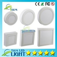 Wholesale 2pcs Hot Sale Round Square W W W Dimmable Led Panel Lights Surface Mounted Led Downlights Warm Natural Cool White AC V