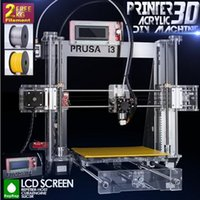 Wholesale High Precision Reprap Prusa i3 DIY d Printer kit with Rolls Filament GB SD card LCD for Free