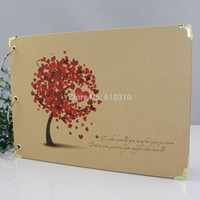 Wholesale 1509 free ship inch DIY loving tree PHOTO ALBUM Scrapbook Paper Crafts baby picture photograph holder include sheet inner card
