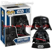 Wholesale Funko Pop Marvel Star Wars Darth Vader Anakin Skywalker CM Jedi Jedi Knight Vinyl Tree Toys PVC Action Figure Toys