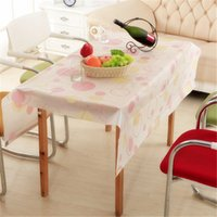 Wholesale Tablecloth Quality PEVA frosted rectangular tablecloth Waterproof and dustproof tablecloth cm g H