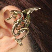 Al por mayor-2015 de la moda del vintage extrañas pterosaurio dragón del manguito del oído clip de pendientes de la joyería al por mayor barata china