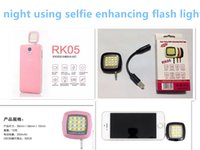Wholesale High quality RK05 leds as the fill light selfie stick RK06 IBLAZR synchronization using for the iphone smartphone camera free shiping