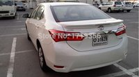 Wholesale A brand new paint There are led lights CAR REAR WING TRUNK SPOILER FOR Toyota Corolla Fast delivery by EMS