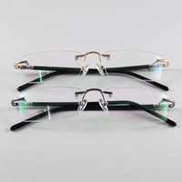 name brand eyeglasses - Fashion Eyewear Unisex Glasses Frame Concise Design Rimless Eyeglasses Men Women Name Brand Glasses Spectacles Optical Goggles