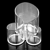 cosmetic storage box - Acrylic Cosmetic Organizer Display Storage Box Case Clear Cylindrical Holder Brush Pot Makeup Accessory