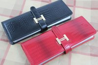 Wholesale YOKA High quality genuine leather name card holders business card book card case large capacity pvc name card places