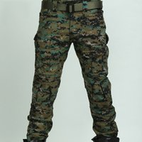 Wholesale Combat Men s Cotton Cargo ARMY Pants Military Camouflage Camo Trousers Four Seasons Tactical Pants Anti Foul Anit Shrink