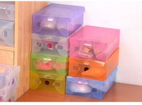 Wholesale 100pcs Clear Plastic Shoe Box Case Storage Organizer For Men s Shoes Size