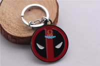 Wholesale 2015 marvel deadpool keychain movie x men key chain ring keyring men boys jewelry gift