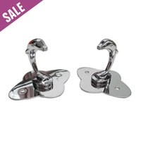 Wholesale 3Pc Stainless Steel Dolphin Decorative Wall hooks racks Clothes hook Metal Towel coat Robe hook Fast Shipping
