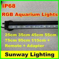 Wholesale Aquarium decorations RGB LED aquarium Tank Light cm cm cm cm cm cm cm Bubble LED Aquarium Lights quot tubes Adapter