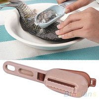 Wholesale New Fish Skin Scraping Fish Scale Brush Graters Fast Remove Kitchen Gadgets TY1602