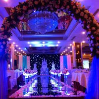 Wholesale 2016 New Romantic Wedding Carpet Aisle Runner Gold Silver Double Side Design T Station Decoration Wedding Favors Carpets