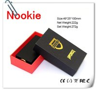 battery contact material - Nookie ecig Box Mod Thread Mechanical Mod with Dual Battery Copper Contact SS Brass Material fit Hellboy Mutation VS cherry bomber