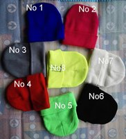 Wholesale 2015 Bboys Fluorescence ghostcrawl beanies Autumn Winter Hiphop Knitting Hats Men and Women Sports Warm Caps Wool Beanie colors