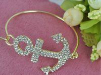 Link, Chain anchors for boats - New charm bracelets Steel ring bracelets for women Full drill boat anchor bracelet Valentine s day gifts unisex SZ3