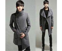Cheap Fall-New Men's Stylish Special Rare Irregular Mod Winter Trench Coat Jacket Overcoat