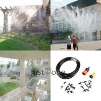 Wholesale 10meter x Outdoor Garden Misting Cooling System Plastic Nozzle Sprinkler Black irrigation