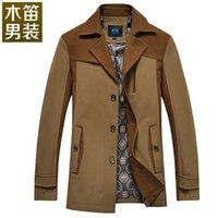 Wholesale 2015 spring new men s business casual long wooden flutes Mens jacket windbreaker jacket men